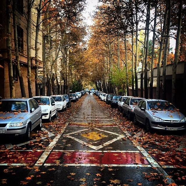 Fall in Tehran, tehran capital of iran
