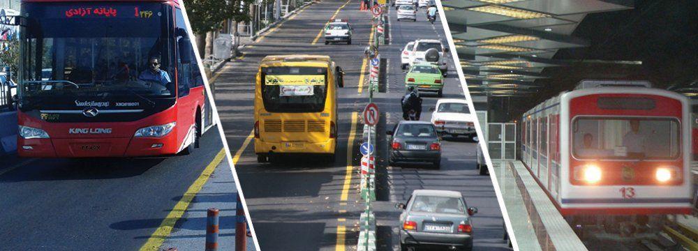Public Transportation in tehran, capital of iran